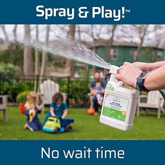 Wondercide - EcoTreat Ready-to-Use Outdoor Pest Control Spray with Natural Essential Oils - Mosquito and Insect Repellent, Treatment, and Killer - Plant-Based - Safe for Pets, Plants, Kids