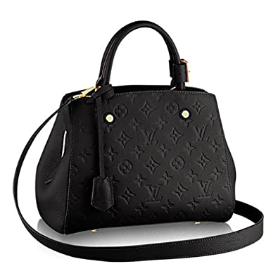 7196f68467a82 Authentic Louis Vuitton Montaigne BB Monogram Empreinte Handbag Article   M41053  Handbags  Amazon.com