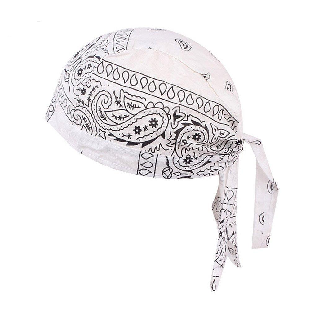 Sport Beanie Cap Hat Chemo Cap Skull Cap Head Wrap for Men and Women (White)