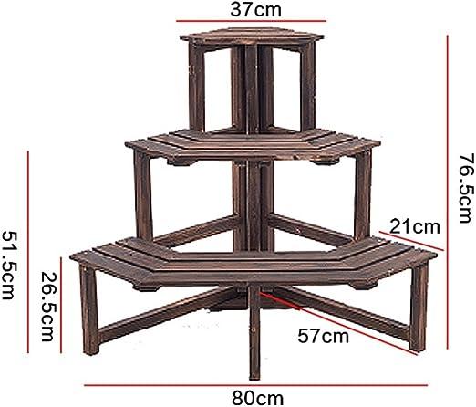 YXX- Escalera de Madera Soporte de Flores Estante de la Planta Estante de Boda Jardín de pie Estantería de Almacenamiento de Madera Protección contra la corrosión (Tamaño : 37 * 76.5cm): Amazon.es: Hogar