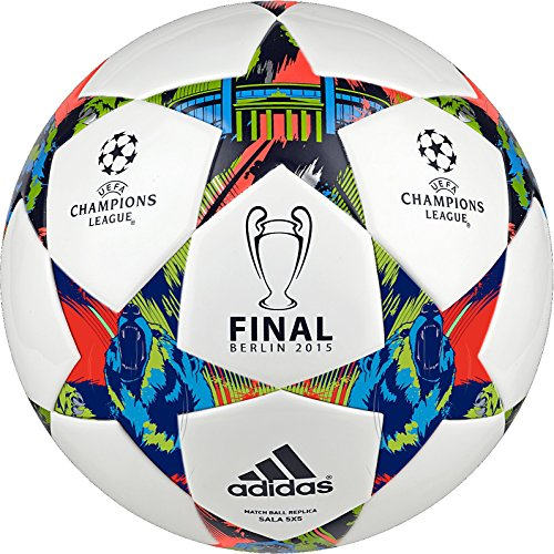 adidas Performance Finale Berlin Sala Ball, White/Solar Blue/Flash Green (Finale Ball Adidas)