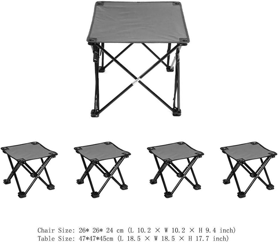 BAOFI Sillas Plegables para Exterior Taburetes de Acampada Silla Plegable Camping Portátil Fácil de Llevar Ideal para Pesca Playa Barbacoa Picnic y Actividades al Aire Libre,Camouflage4Chairs1Table: Amazon.es: Deportes y aire libre