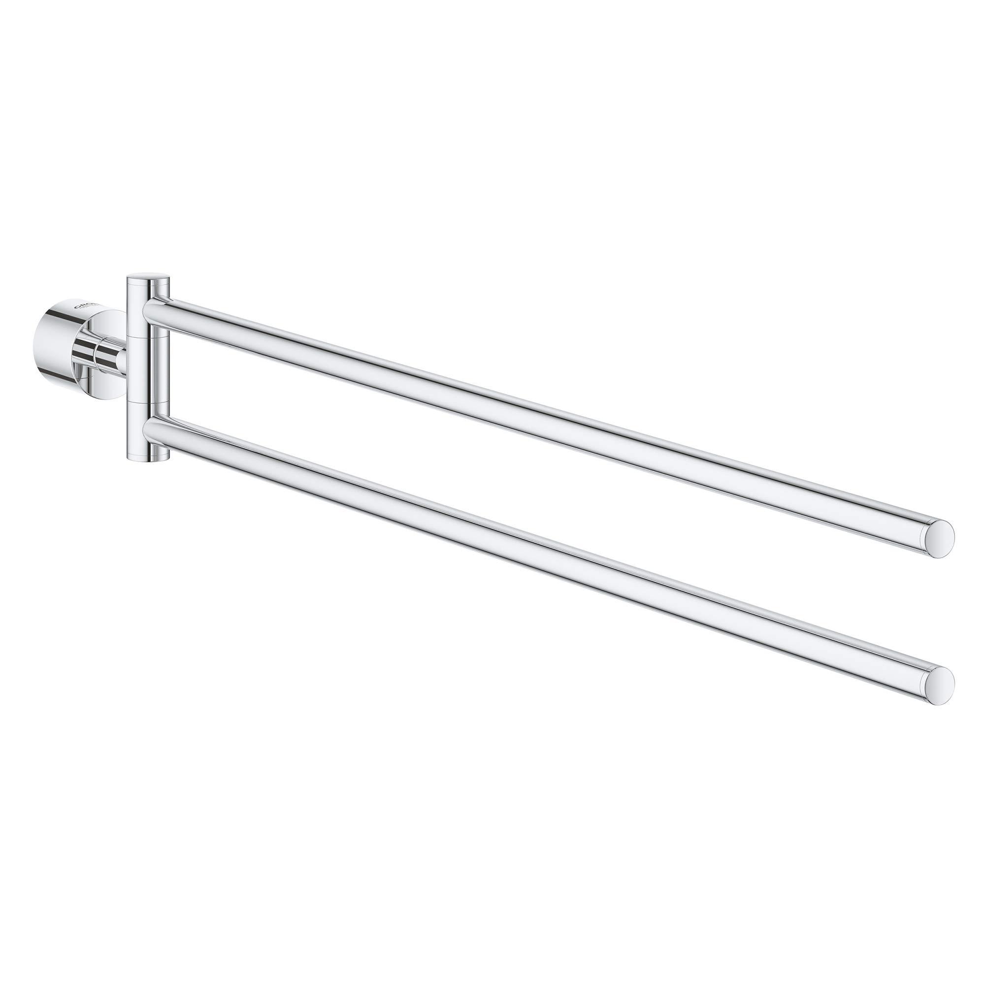GROHE 40308003 Atrio Double Towel Bar, Starlight Chrome