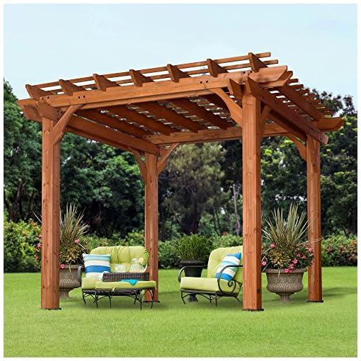 Garden and Outdoor Backyard Discovery Cedar Pergola 10 'x 10' pergolas