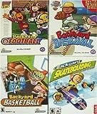 Backyard Skateboarding, Baseball, Basketball, and Football 4 Pack