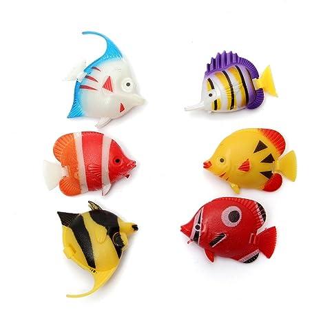 6pcs Acuario Fish Tank artificial pescado multicolor peces adorno decoración/6pcs Acuario Fish Tank artificiales