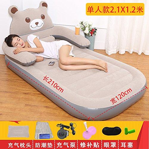 NVZJNDS colchón inflable de dibujos animados oso de tatami colchones de aire sábanas personas reclinable dormitorio casa sofá doble perezoso, ...