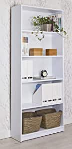Topkit | Estantería Clásica Berlín 8003 | Medidas 203 x 82 x 29 cm | Estanteria Decorativa | Blanco