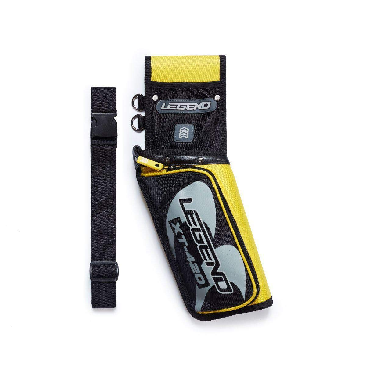 Legend Archery Field Quiver for Arrows with Multi-Pocket Nylon Belt Hip Arrow Holder Lightweight and Functional XT420 (Yellow/Right)