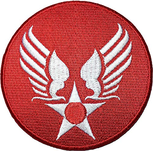 OTA Patch US AIR Force Star Circle Eagle Wing RED Logo Insignia Military Army United Logo Jacket Vest Shirt hat Blanket Backpack T Shirt Embroidered Appliques Symbol Badge Cloth Sign Costume