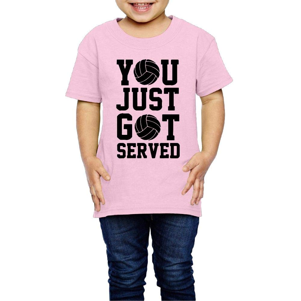 XYMYFC-E You Just Got Served Volleyball 2-6 Years Old Child Short-Sleeved Tshirt