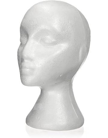 SODIAL(R) 27.5*52cm Manequi / Maniqui de cabeza Mujer de Espuma(
