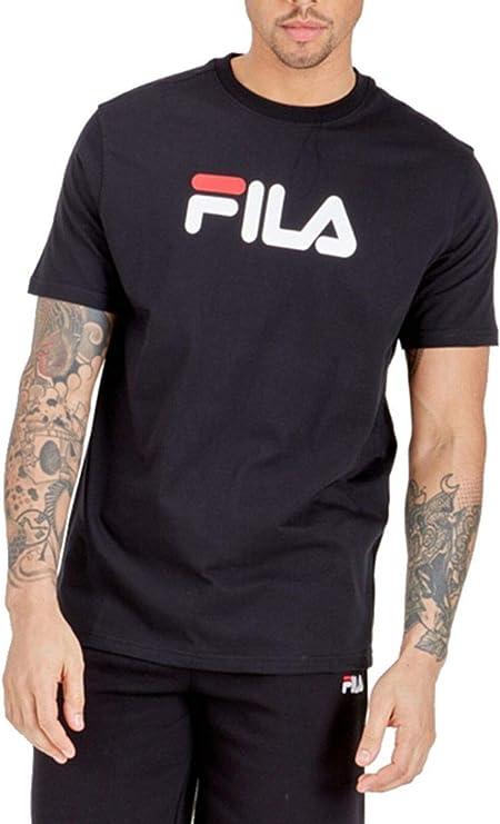 Fila de los Hombres Camiseta con gráfico del águila, Negro