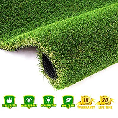 AYOHA HOME&GARDEN Many Size Fake Grass, Realistic Fake Grass Deluxe Synthetic Turf Thick Lawn Pet Turf, Perfect for Carpet Doormat Indoor/Outdoor Landscape, 35mm Pile Height