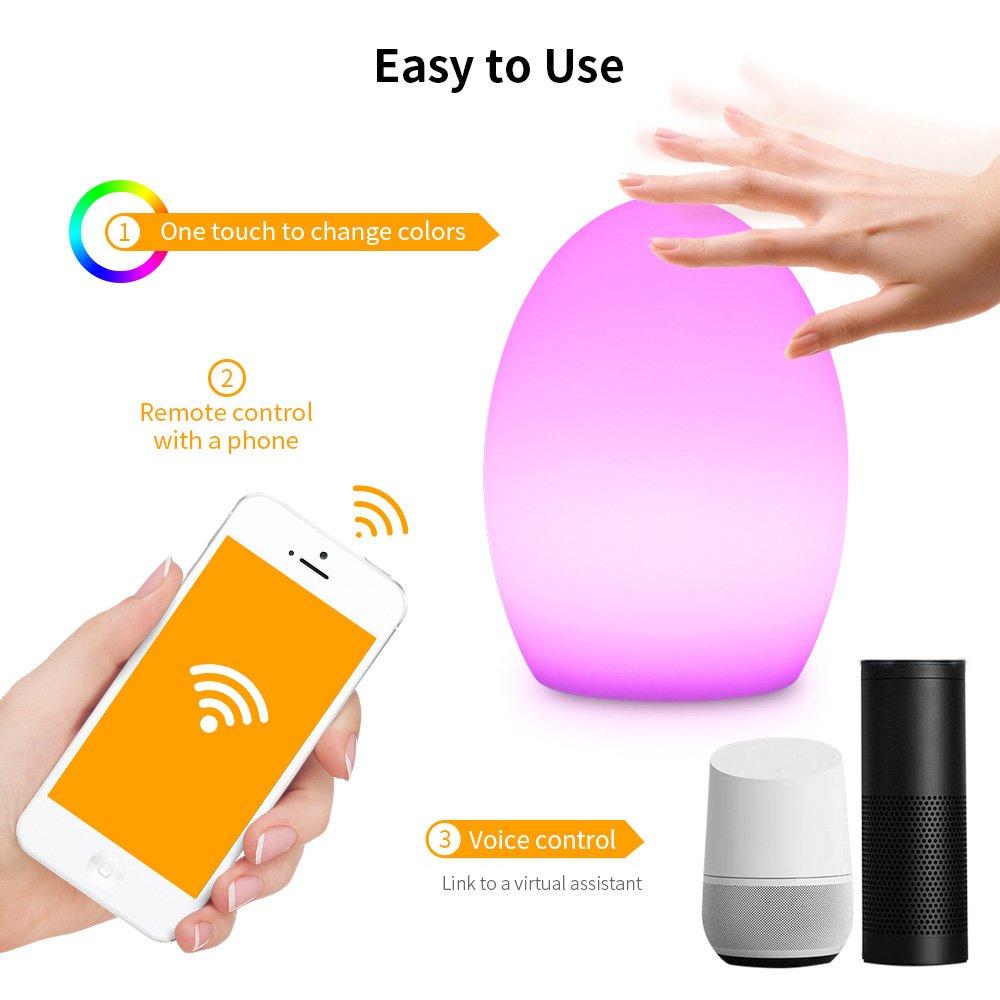 Lámpara de noche Joyhero, Lámpara Smart Light Wifi Atmosphere, Luz nocturna regulable de color, 7W RGB Multicolor, [Clase de eficiencia energética A+] ...