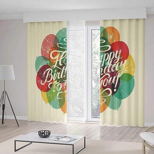 Cortinas para Ventana, decoración de cumpleaños, Sala de ...