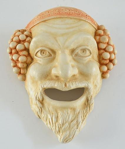Dionysos pequeña máscara – Dioniso dios del vino Ritual locura y éxtasis – Teatro griego de