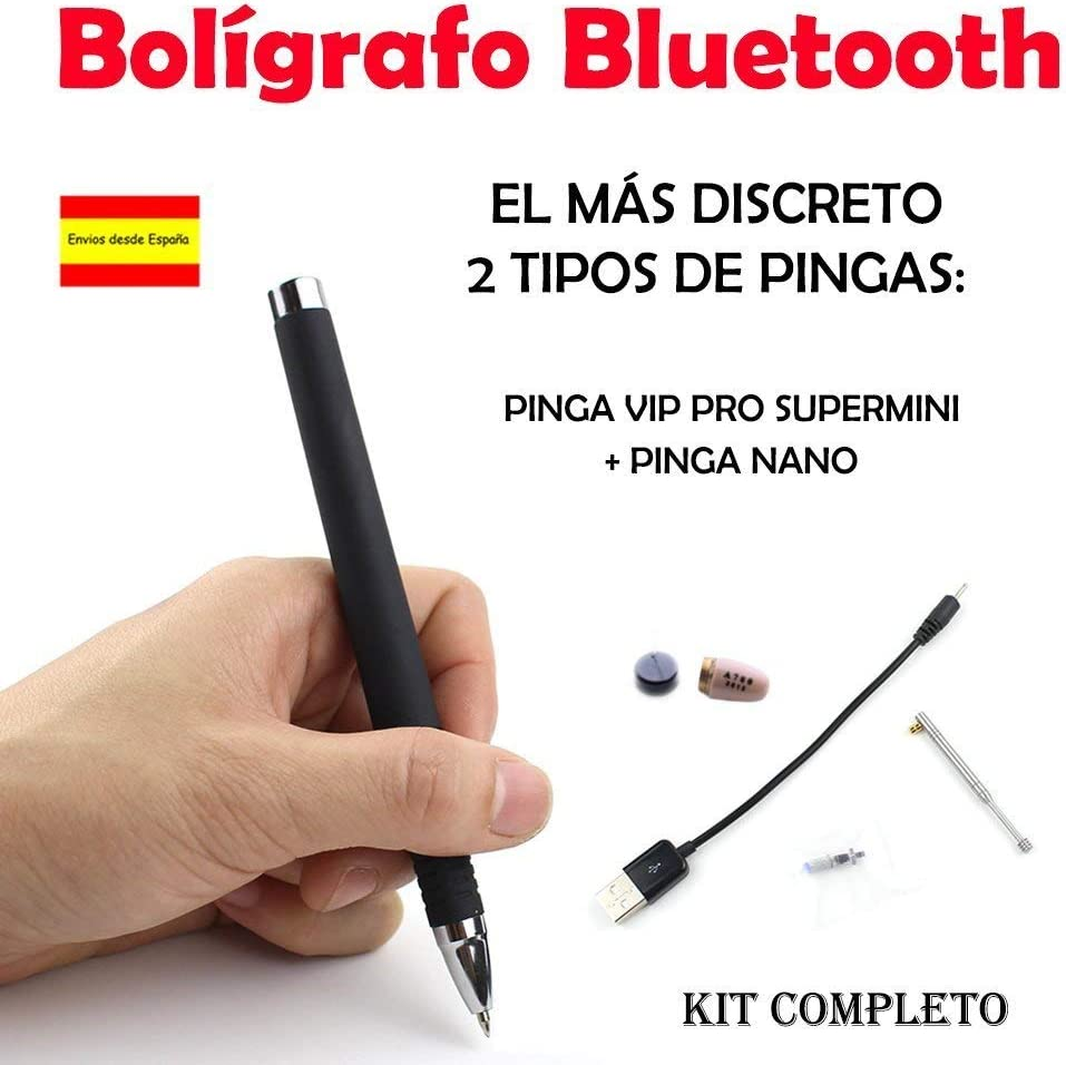 Bolígrafo Bluetooth + Pinga Vip Pro SuperMini KIT COMPLETO: Amazon ...