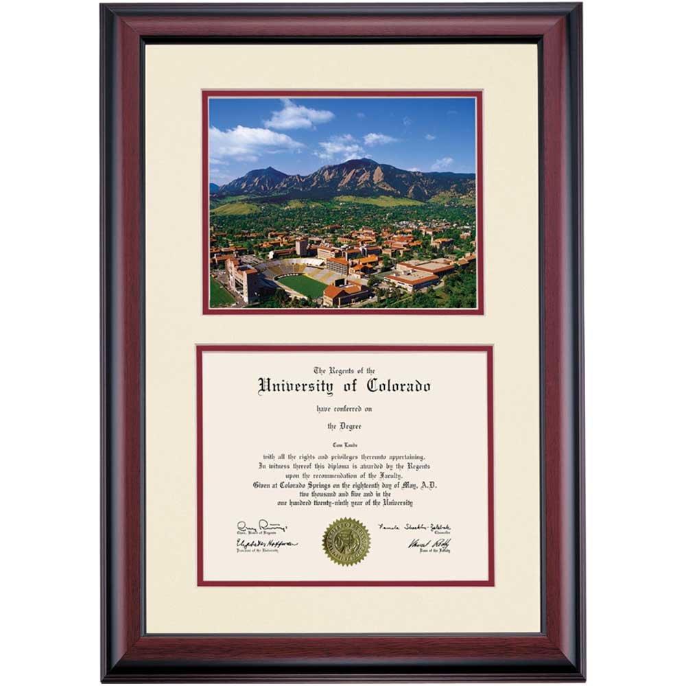 Amazon.com - Campus Linens Colorado Buffaloes Diploma Frame Ivory ...