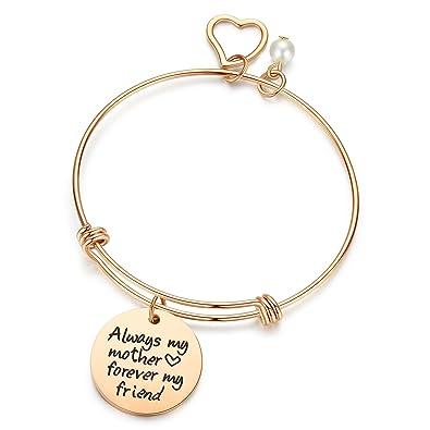 amazon com jsstudio mother daughter bracelets always my mother