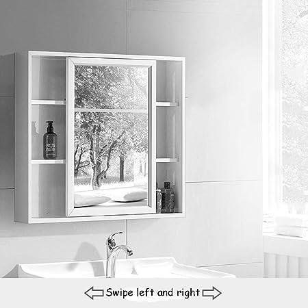 Armarios con espejo Montado En La Pared del Gabinete del Espejo ...