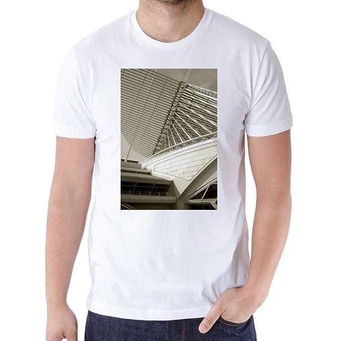 Hombres de la moda camisas Museo Santiago Cool para hombre camisetas blanco