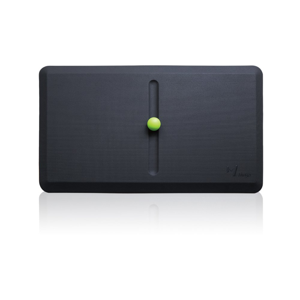 Premium 3/4'' Anti-Fatigue Mat, Standing Desk Comfort Mats with One Massage Ball for Kitchen and Office | Ergonomically Engineered, Non-Toxic, Waterproof | Active Floor Mat Cushioned by Mingo Lab