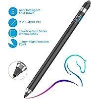 ▸cle stylus pen voor Apple iPad, tablet, 2-in-1 styluspen: 5-minuten auto power off en vezelpunt, compatibel met iPad Pro/iPad 2018/iPhone/Samsung. Zwart-188