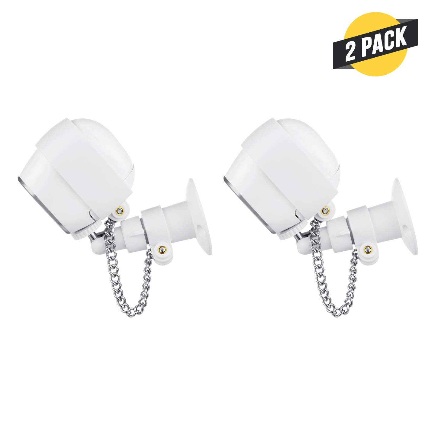 Wasserstein Anti-Theft Security Chain Compatible with Arlo HD - Extra Security for Your Arlo Camera (2 Pack, White)