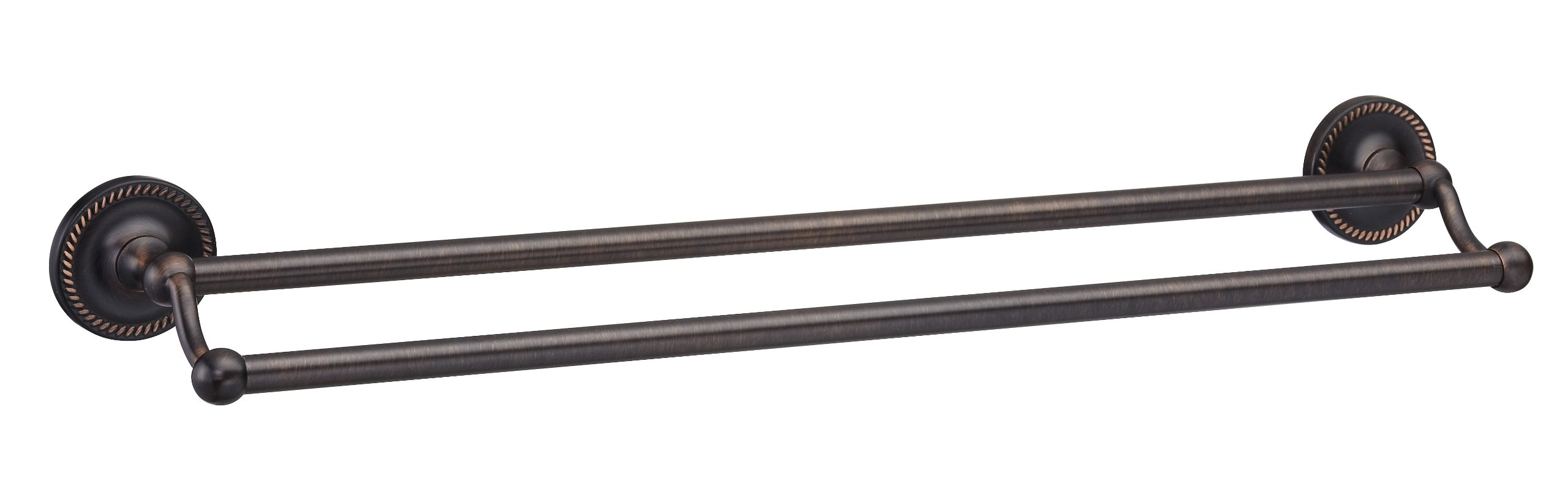 Designers Impressions Naples Oil Rubbed Bronze 24'' Double Towel Bar