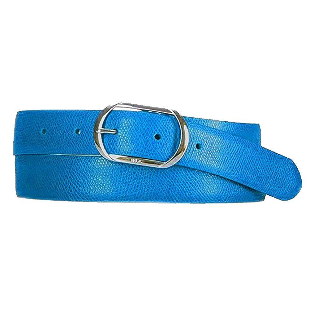 LAUREN Ralph Lauren - Whitby Centerbar Buckle Belt (Cyan) (Medium)