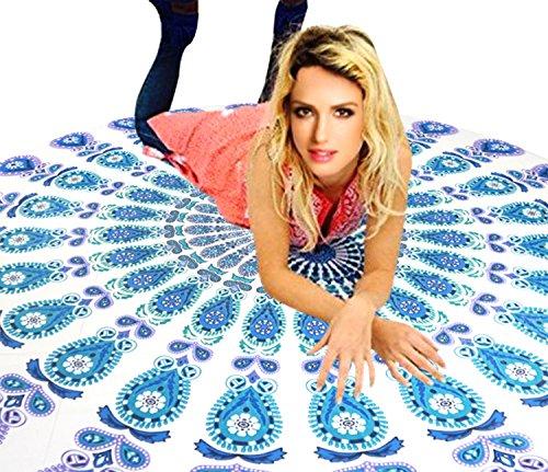 Bellady Women's Round Chiffon Beach Scarf Shawl Cover up Beach Throw Tapestry Yoga Mat,Green
