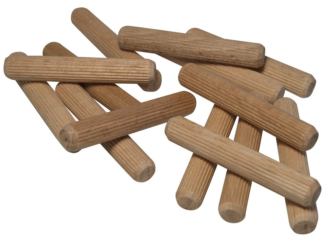 multicolour Ribbed Dowels Wooden Dowel