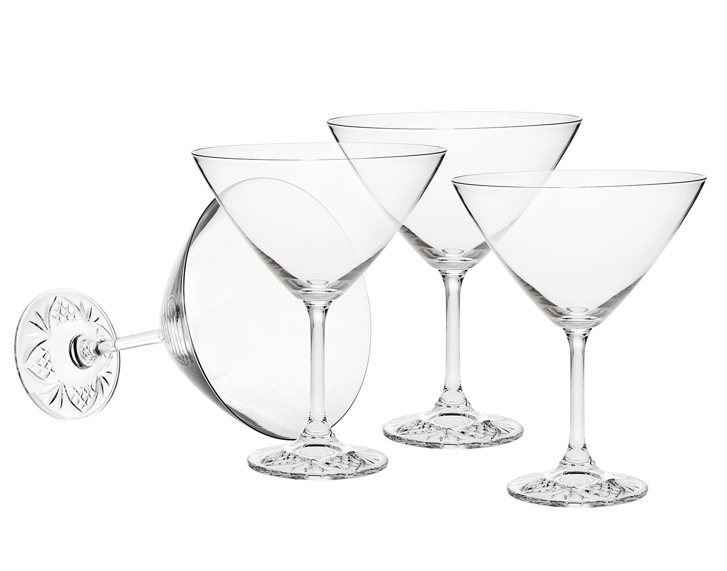 Godinger Silver Art Dublin Edge 9.5 Oz Martini Set of 4