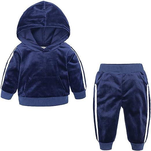 2pcs Newborn Baby Boys Girl Velvet Outfits Cartoon Hooded Coat+Pants Clothes Set