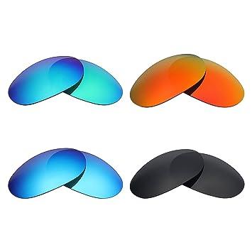 MRY 4 pares polarizadas lentes de repuesto para Costa del Mar hombre sunglasses-stealth negro