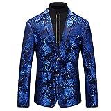 Best Designer Suits For Men - WEEN CHARM Men's Designer Floral Printed Single Breasted Review