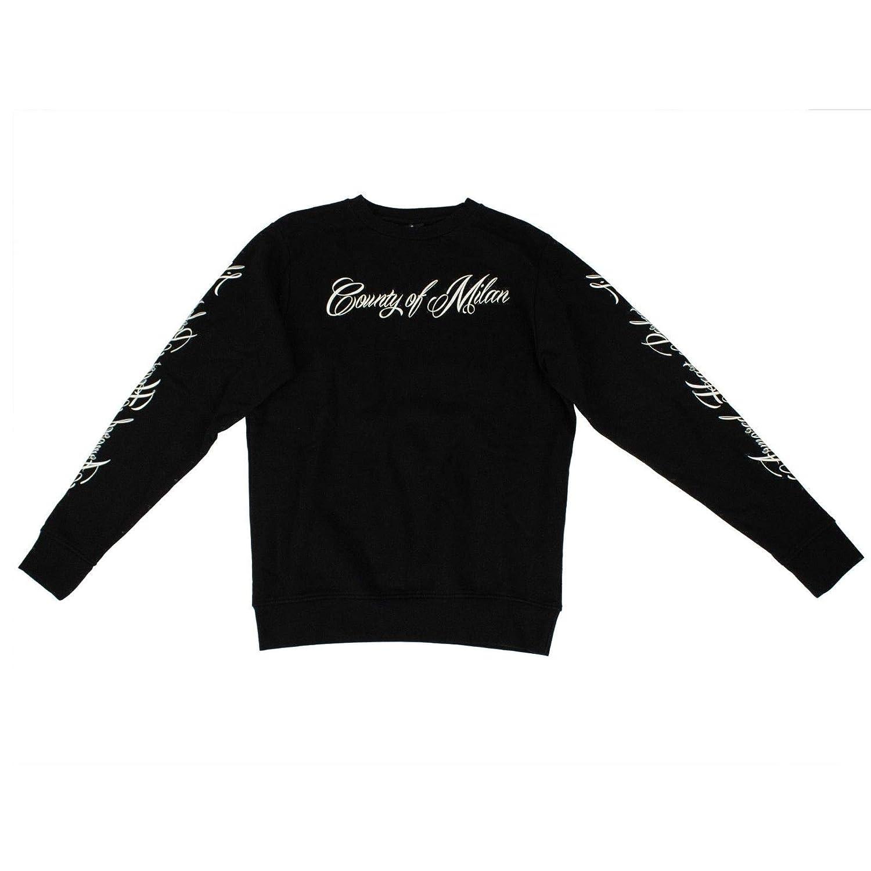 MARCELO BURLON Mens Wonk Crew Neck Sweatshirt M Black