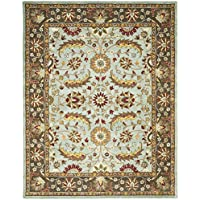 Safavieh Heritage Collection HG962A Handcrafted Traditional Oriental Blue and Brown Wool Area Rug (9 x 12)