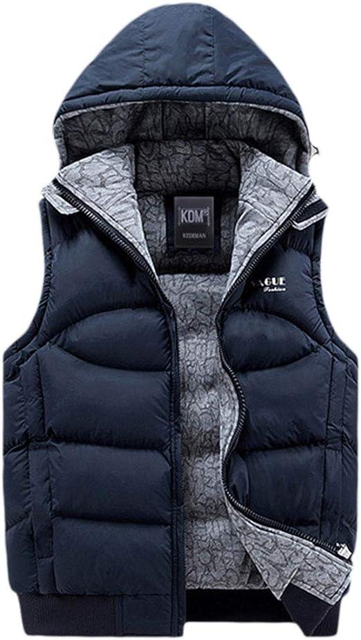 UK Men/'s Winter Sleeveless Jacket Padded Waistcoat Hooded Vest Coats Outwear