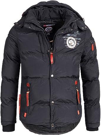 TALLA M. Geographical Norway Chaqueta acolchada de invierno para hombre, con capucha