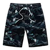 YIMANIE Men's Swim Trunks Colorful Coconut Tree Printing Quick Dry Beach Board Shorts Swimwear
