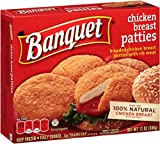 Banquet, Chicken Patties Box, 14.4 Oz. Microwavable (12 Count)