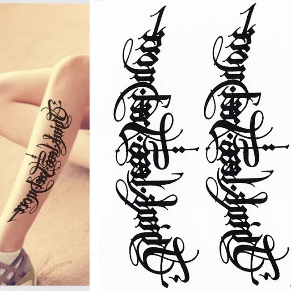 tzxdbh 3Pcs-Palabra Negra Etiqueta engomada del Tatuaje Temporal ...