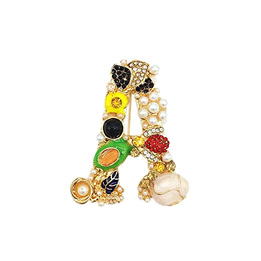 22c37a851df Amazon.com: Sunvy Fashion Luxurious Pearl Brooch Pin Women Girls Jewelry  Clothes Shawl Accessories (A): Clothing
