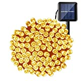 Solar String Lights 72ft 200led Solar Power Christmas Lights, Fairy Ambiance Lighting Waterproof for Gardens, Patio, Landscape, Homes, Wedding, Party, Tree, Outdoors, Christmas Decoration, Warm White