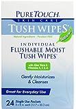 PURETOUCH Skin Care Wipes,Tush,FLUSHABLE, 24 CT