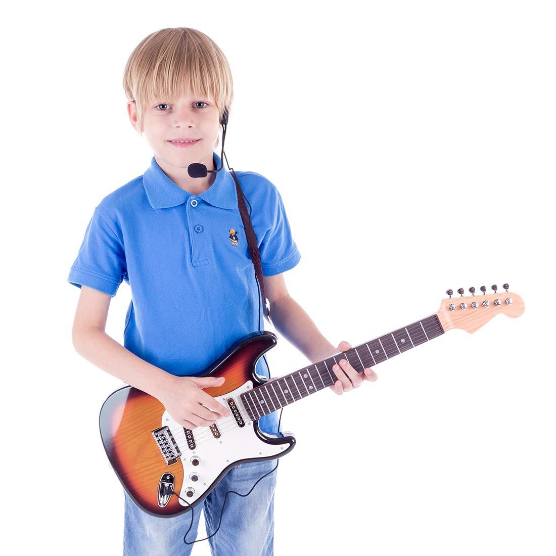 Haunen Gitarre Kinder 6 Saiten Kindergitarre P/ädagogisches Spielzeug f/ür ab 3 Jahre,66CM