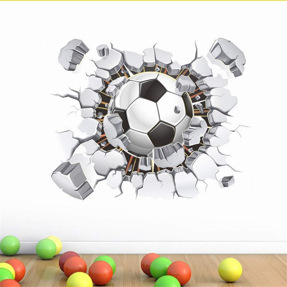 Hlonl Pegatinas De Pared 3D Balón De Fútbol Fútbol Tatuajes De ...