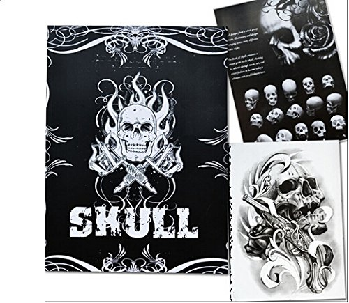 Yuelong® Group Skulls Skeleton Design Tattoo Art Book Flash Sketch Supplies (Tattoo Skull Pic compare prices)